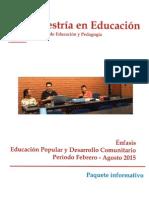 Documento Maestría Énfasis en Educación Popular