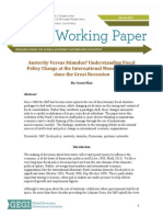 Austerity vs. Stimulus Working Paper