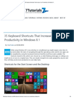 35 Keyboard Shortcuts That Increase Your Productivity in Windows 8