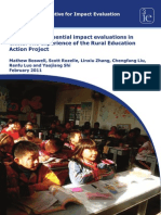 WP10 - Conducting Influential Impact Evaluations in China the Experience of the Rural Education Action Project