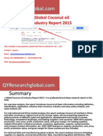 QYResearch New Published-Global Coconut Oil Industry Market Research Report 2015
