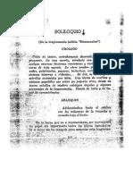 Soliloquio de La Tragedia Inédita Humunculus - Pedro Emilio Coll