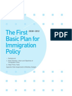 The First Basic Plan for Immigration Policy, 2008-2012, Ministry of Justice, Republic of Korea