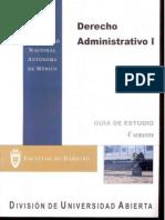 Derecho Administrativo 4 Semestre Guía de Estudio UNAM SUA Facultad de Derecho