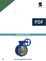 Kirloskar Valves Technical Specification Catalogue