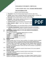 M.tech MCA M.sc Regulations 2013