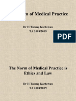 The Norm of Medical Practice