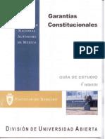 Garantias Constitucionales 4 Semestre UNAM SUA Guía de Estudio Facultad de Derecho
