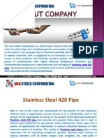 Stainless Steel 420 Pipe
