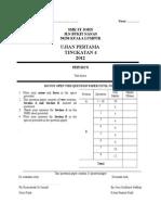 Form 4 Ujian 1 2012