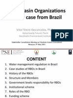 River Basin Organizations - Case study from Brazil