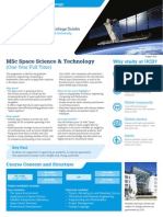 UCD MSc Space Science and Technology Brochure