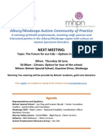 18 june 2015 albury wodonga autism community of practice next meeting