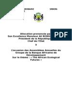 Allocution du Président Ali Bongo Ondimba à l'occasion des 50èmes Assemblées Annuelles du Groupe de la Banque Africaine de Développement