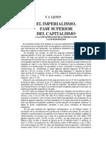 Imperialismo Fase Superior Del Capitalismo (Resumen de Sus Capitulos)