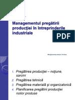 Managementul Pregătirii Producţiei În Întreprinderile