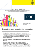 Apresentação Projeto STOP Bullying