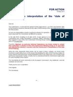 Interpretácia EK týkajúca sa dátumu prvého zmrazenia