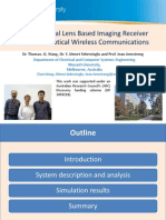 Hemispherical Lens Based Imaging Receiver for MIMO Optical Wireless Communications