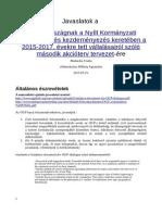 Open Government Partnership Magyarország - Javaslatok a kormányhatározathoz, eDemokrácia Műhely Egyesület
