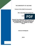Dispute Dissertation