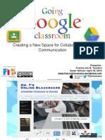 Going Google Classroom