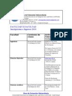 INFORMACION DE INGRESO Y ATENCION AL PÚBLICO