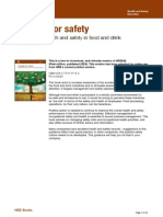 Occupational health and safety in food and drink manufacture