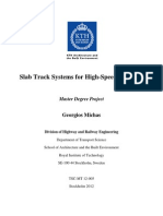 Slab Track Systems for High-Speed Railways