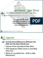 The Operational Data Store - Tactical Analysis at Your Fingertips
