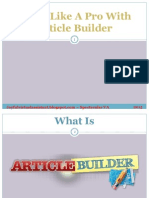 Write Like a Pro With Article Builder