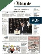 Le Monde Du Mardi 26 Mai 2015