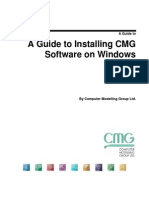 A Guide to Installing CMG 2012 Software on Windows