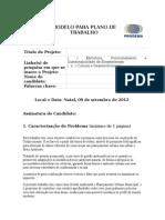 [Modelo] Plano de Trabalho PRODEMA - Turma 2013