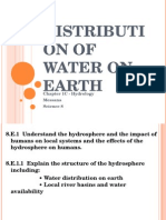 Distribution of Water on Earth[1]
