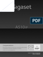 Siemens Gigaset A510 IP VoIP Cordless Phone Manual