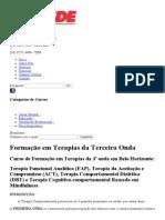 Curso de Formação Em Terapias Da 3ª Onda _ Belo Horizonte MG _ CESDE - Centro de Estudos e Desenvolvimento Educacional
