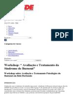 Curso Diagnóstico e Tratamento Psicológico Do Burnout _ CESDE - Centro de Estudos e Desenvolvimento Educacional