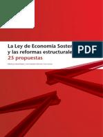 FEDEA 25 Propuestas Ley Economía Sostenible y Reformas Estructurales Fdez-Villaverde Garicano y Bagües