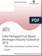 India Packaged Fruit Drinks Market Trends and Growth, 2019