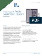 Edwards Signaling ANS25MDR Data Sheet