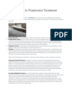 Introduction to Wastewater Treatment Processes