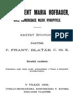 Zivotopisy Svatych V Poradi Dejin Cirkevnich Cast Druha