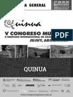 V CONGRESO MUNDIAL DE LA QUINUA – Programa Final_LaQuinua.blogspot.com