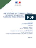 Rapport - Compte Personnel de Prévention de La Pénibilité