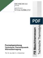 Fluid und Thermodynamik Formelsammlung