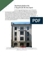 Deutscher Richterbund plädiert für internationales Regelwerk für den Sport PDF