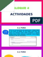 BLOQUE 4. ACTIVIDADES