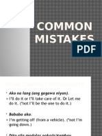 Common Mistakes (English)