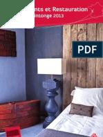 Guide Hébergement et Restauration 2013 en Vals de Saintonge